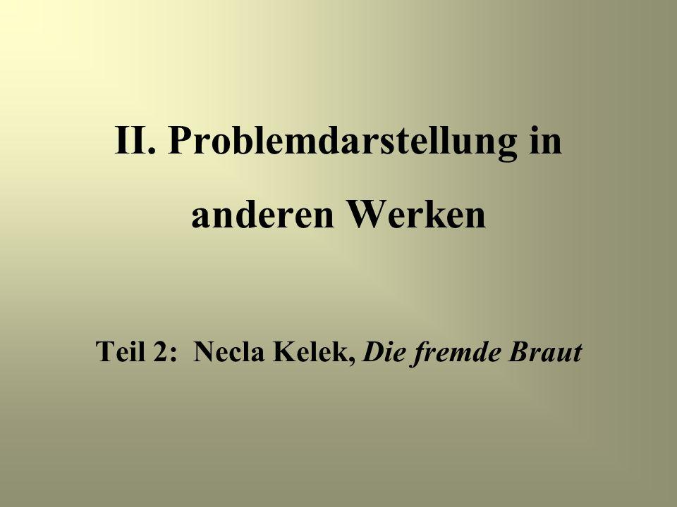 II. Problemdarstellung in anderen Werken Teil 2: Necla Kelek, Die fremde Braut