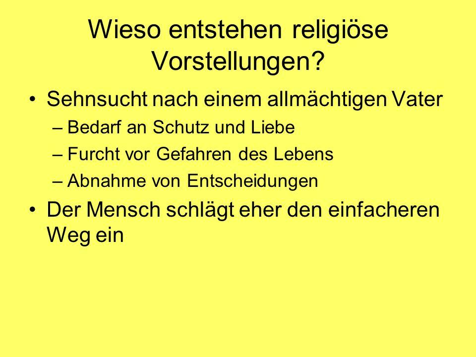 Wieso entstehen religiöse Vorstellungen