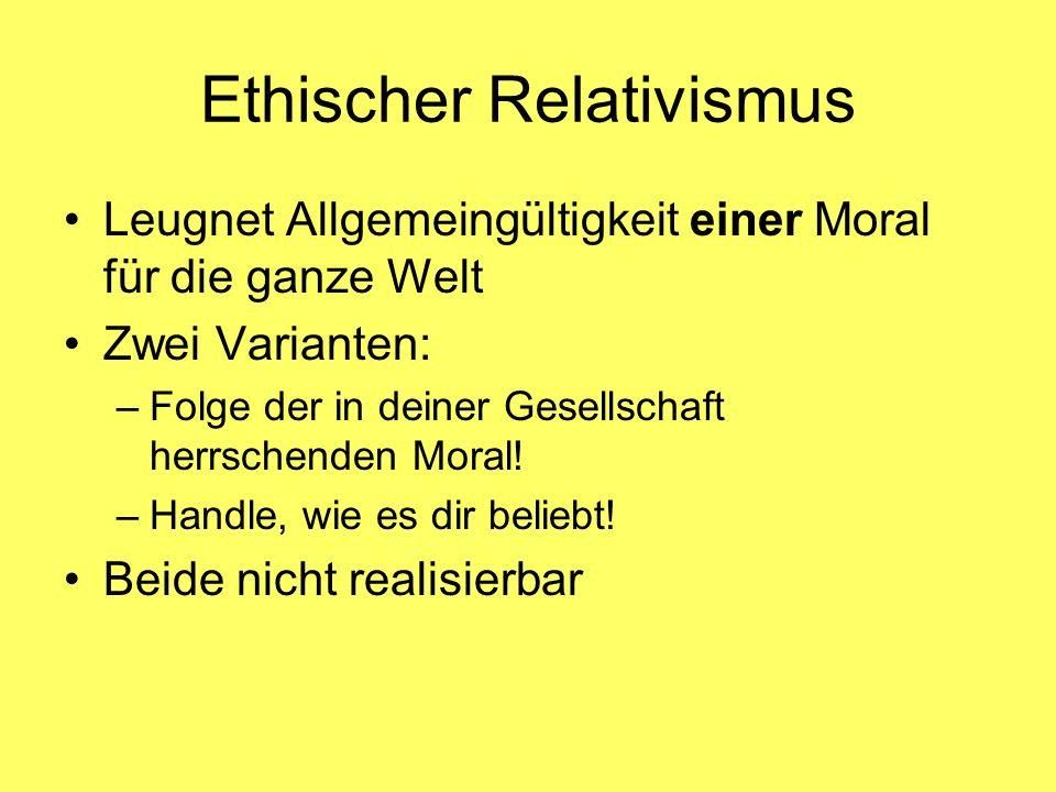 Ethischer Relativismus