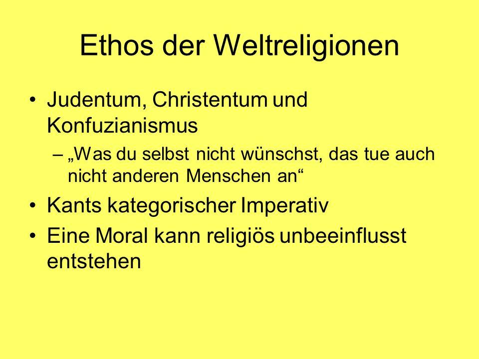 Ethos der Weltreligionen