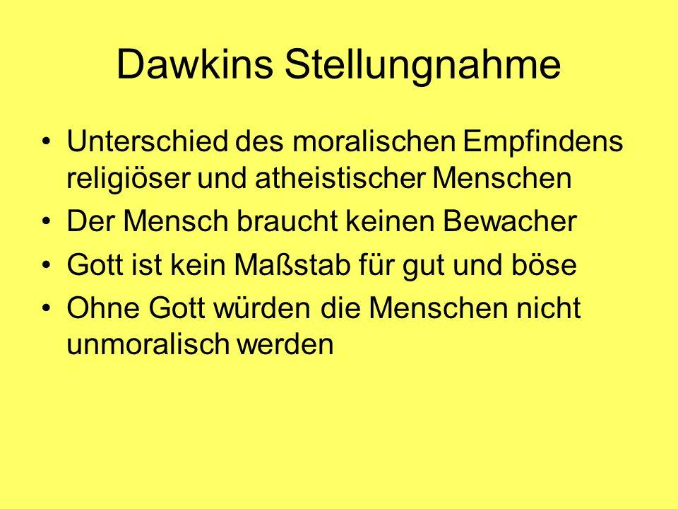 Dawkins Stellungnahme