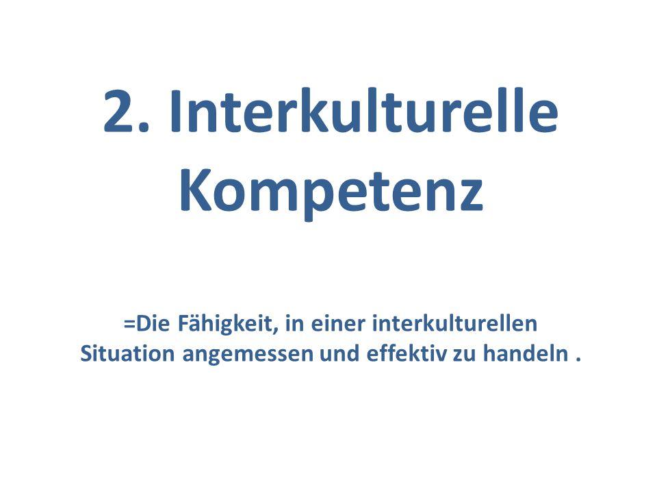 2. Interkulturelle Kompetenz