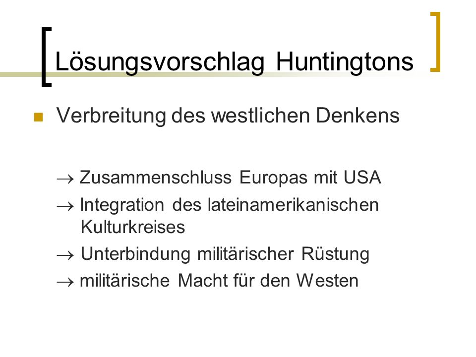 Lösungsvorschlag Huntingtons