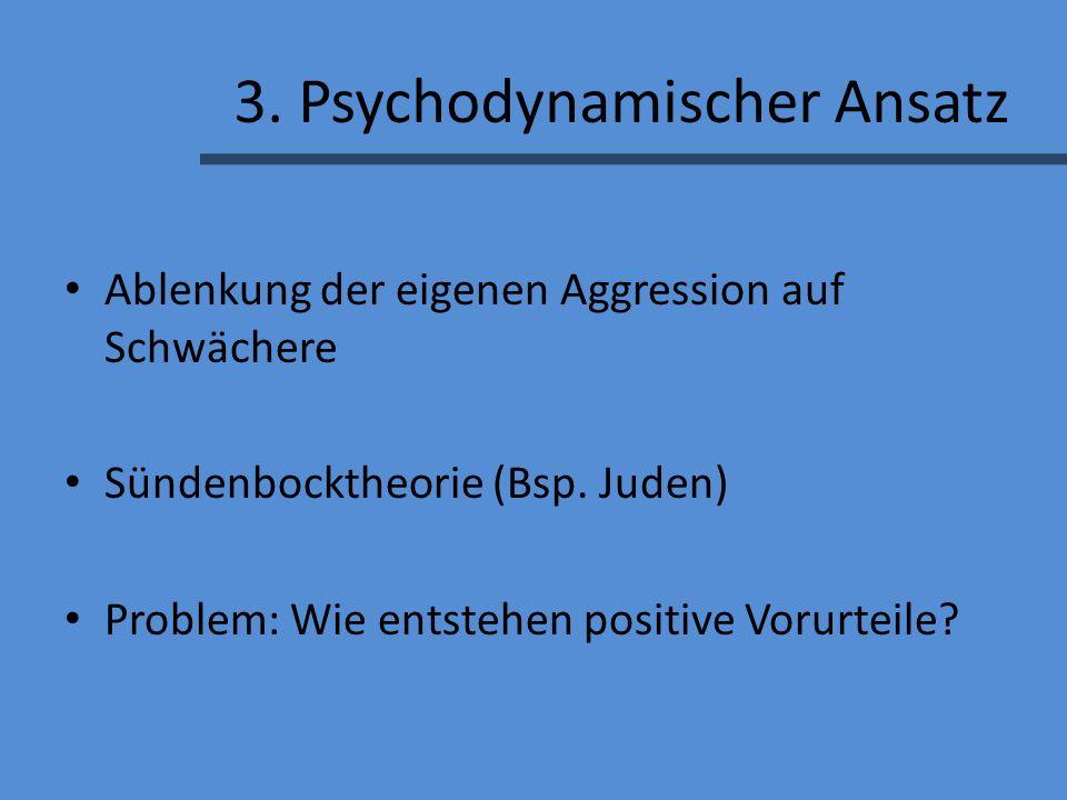 3. Psychodynamischer Ansatz