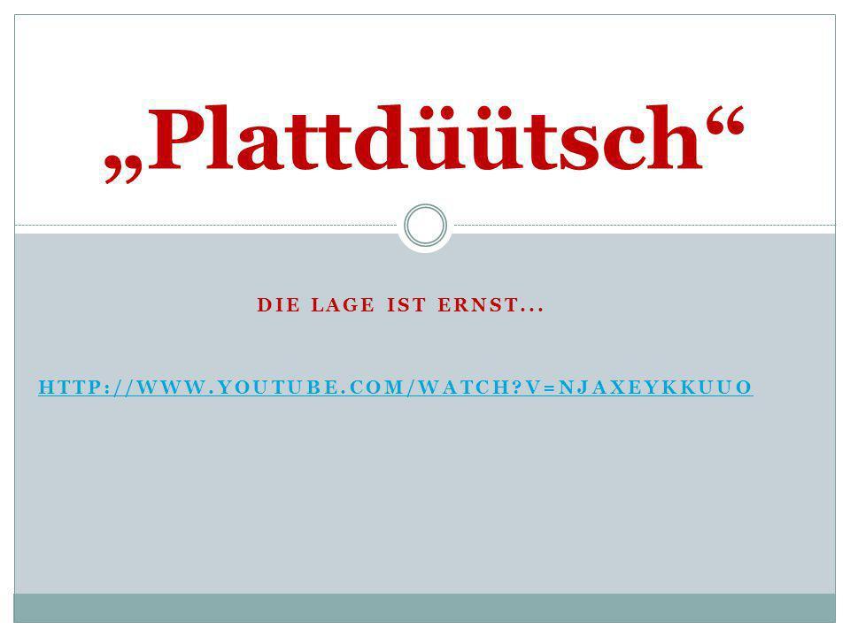 Die Lage ist ernst... http://www.youtube.com/watch v=NJaXEYkKUuo