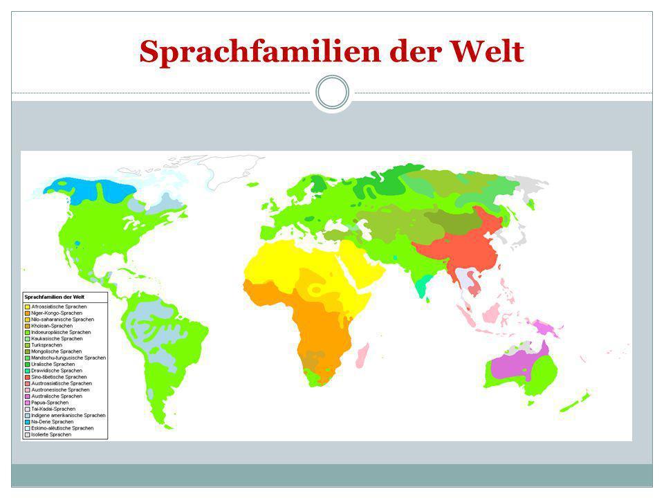Sprachfamilien der Welt