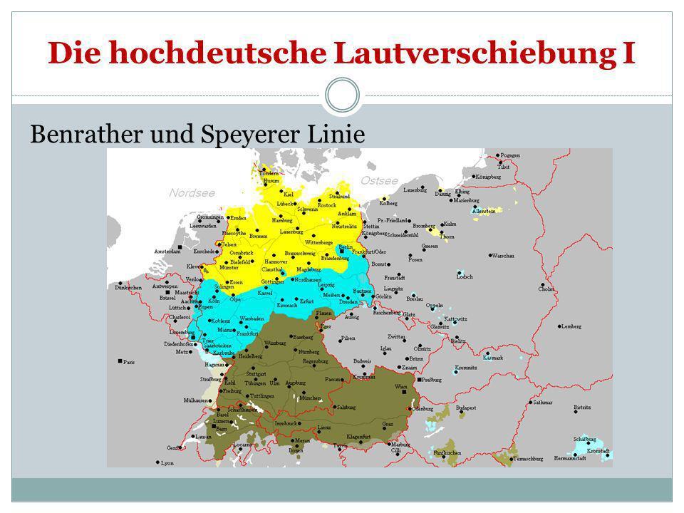 Die hochdeutsche Lautverschiebung I