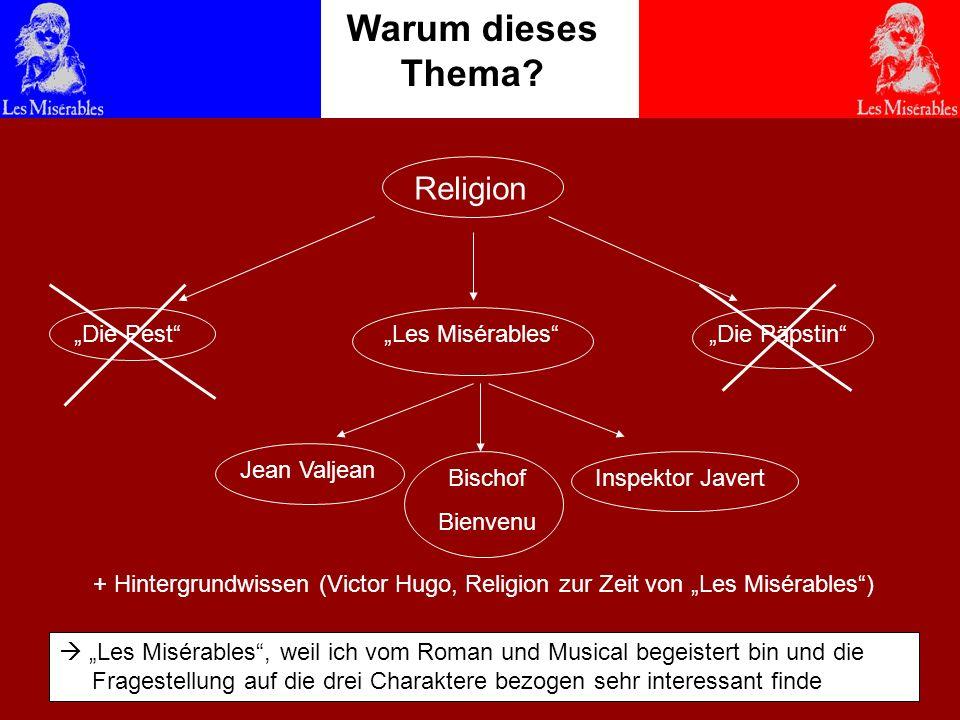 Warum dieses Thema Victor Hugo -religionslos gläubig Religion