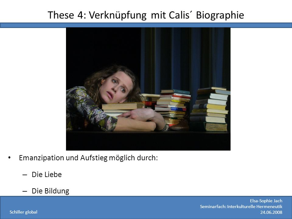 These 4: Verknüpfung mit Calis´ Biographie