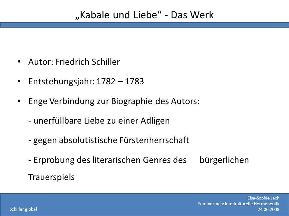 """""""Kabale und Liebe - Das Werk"""