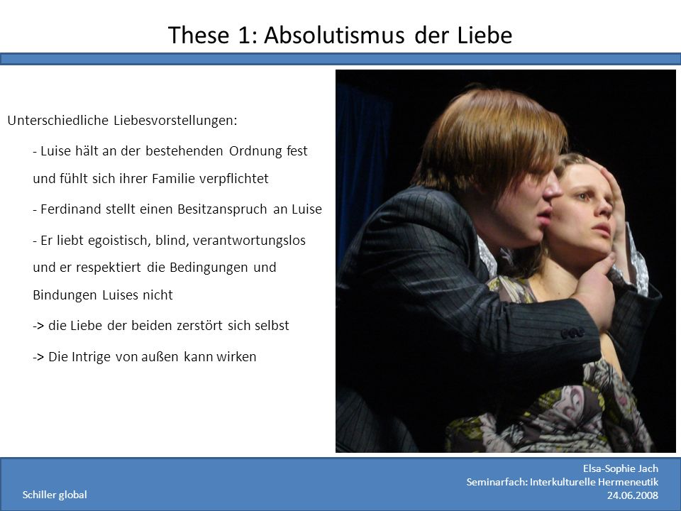 These 1: Absolutismus der Liebe
