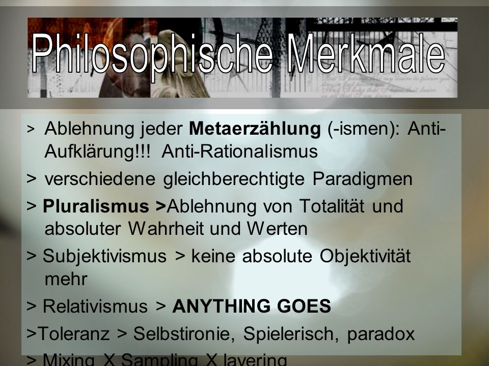 Philosophische Merkmale