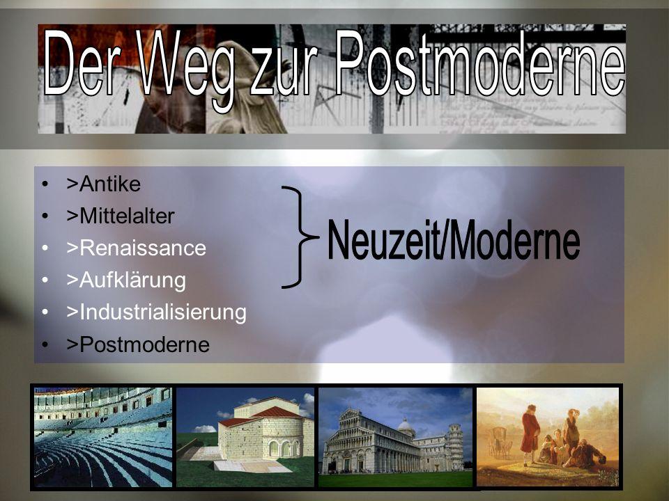 Der Weg zur Postmoderne