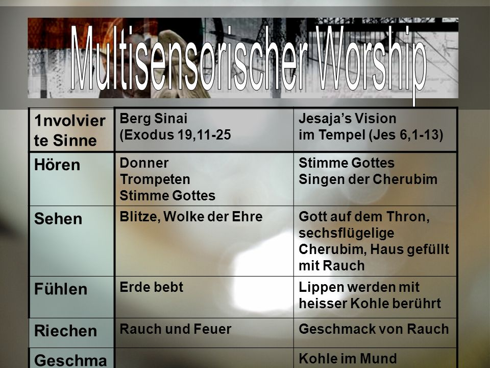 Multisensorischer Worship