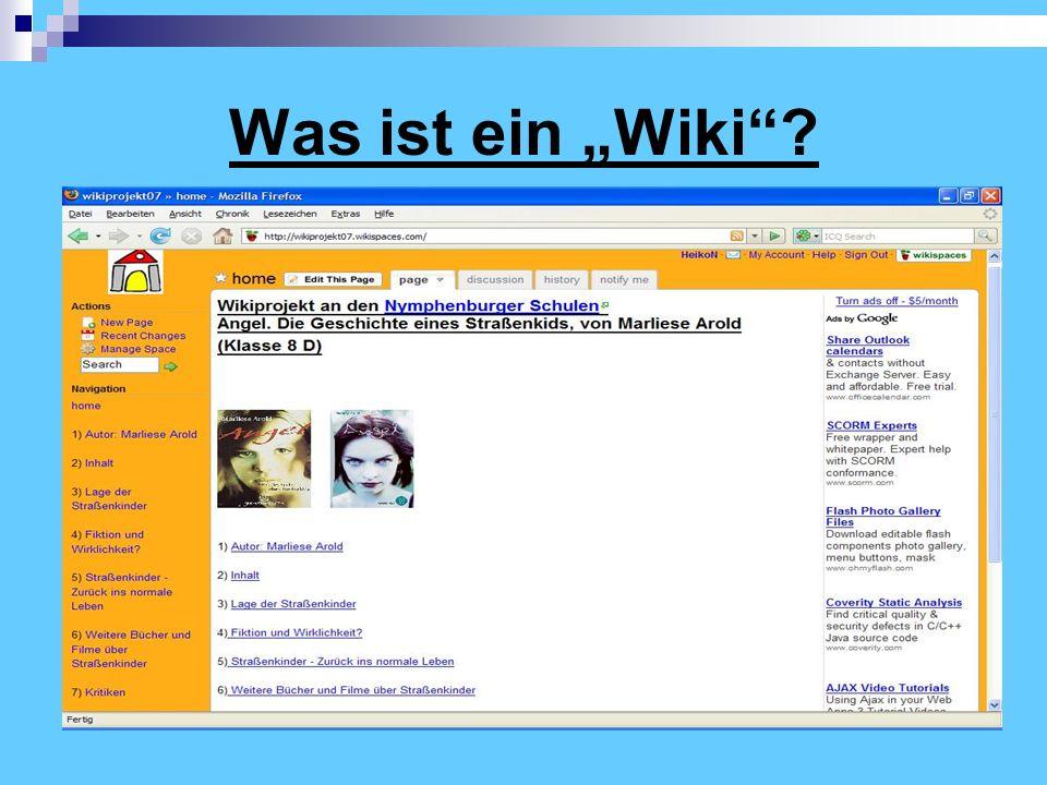 """Was ist ein """"Wiki"""