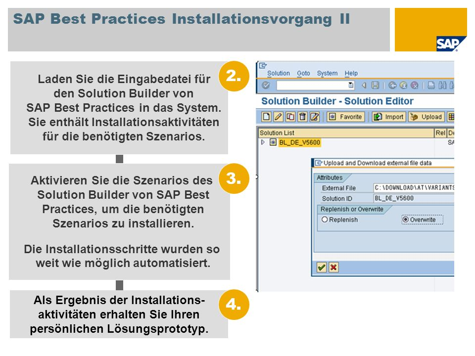 SAP Best Practices Installationsvorgang II