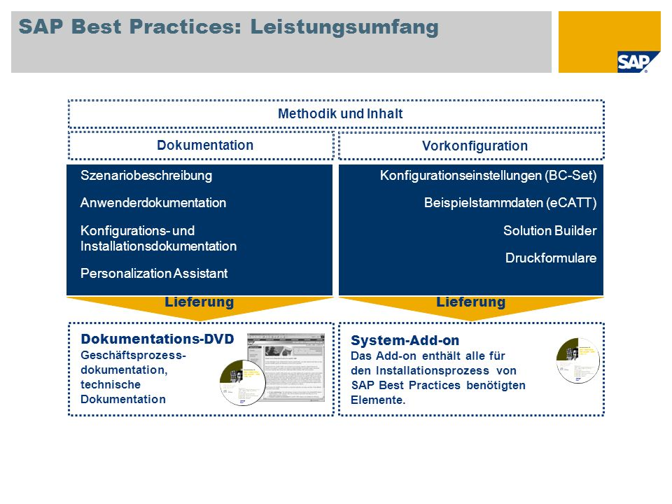 SAP Best Practices: Leistungsumfang