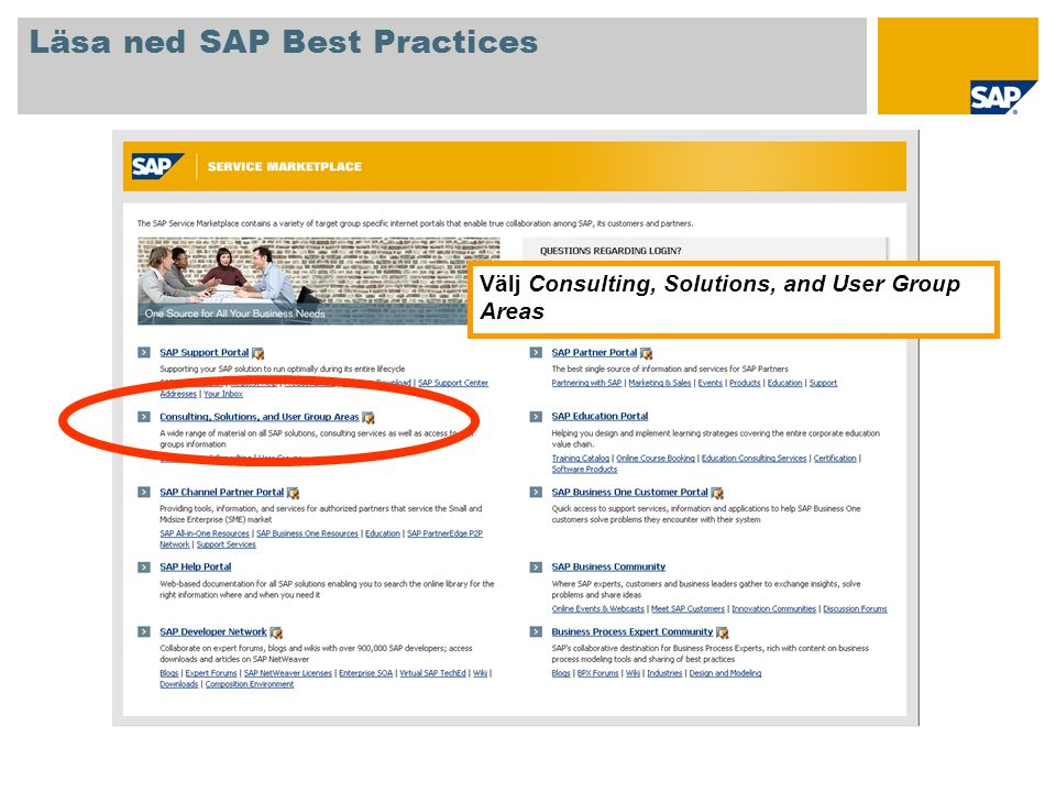 Läsa ned SAP Best Practices