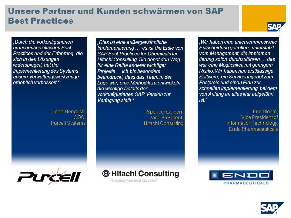 Unsere Partner und Kunden schwärmen von SAP Best Practices