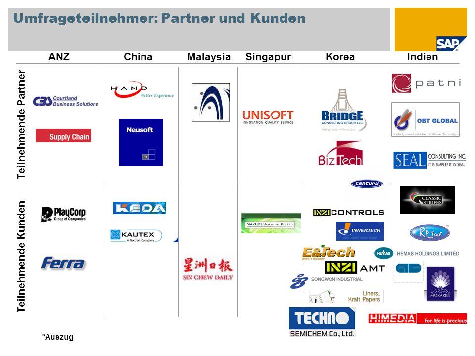 Umfrageteilnehmer: Partner und Kunden