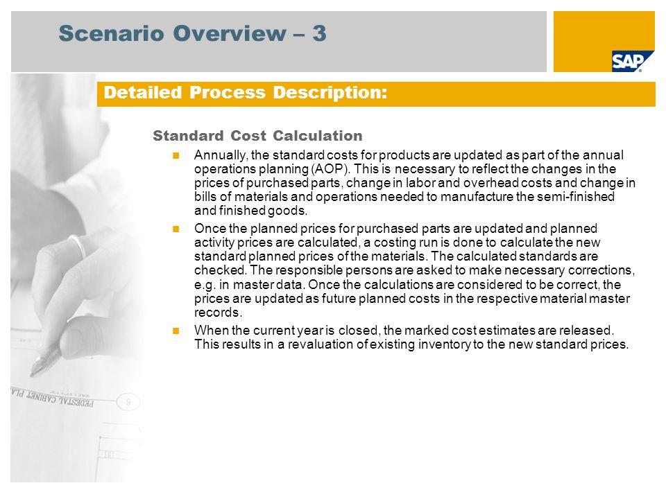 Scenario Overview – 3 Detailed Process Description:
