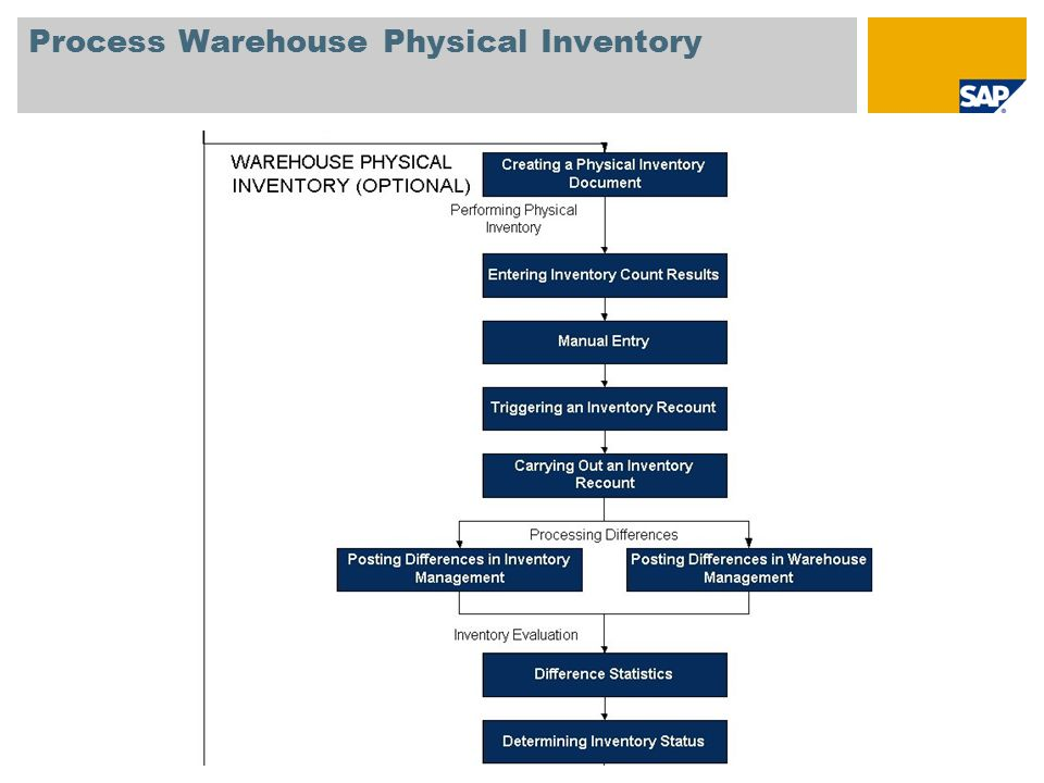Process Warehouse Physical Inventory