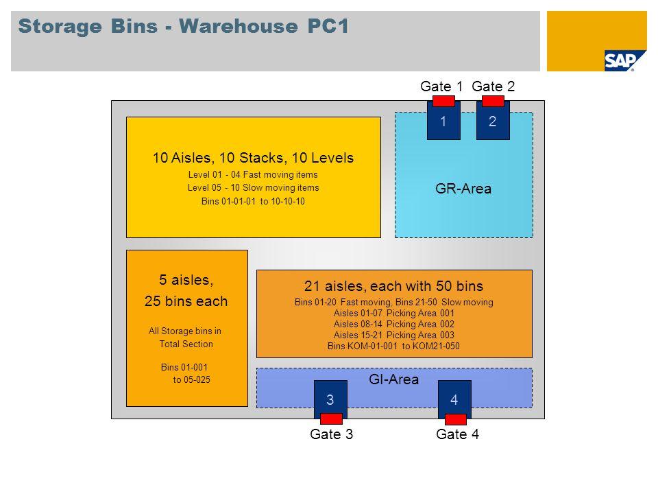 Storage Bins - Warehouse PC1