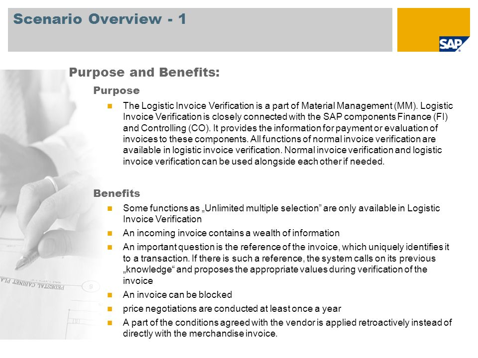 Scenario Overview - 1 Purpose and Benefits: Purpose Benefits