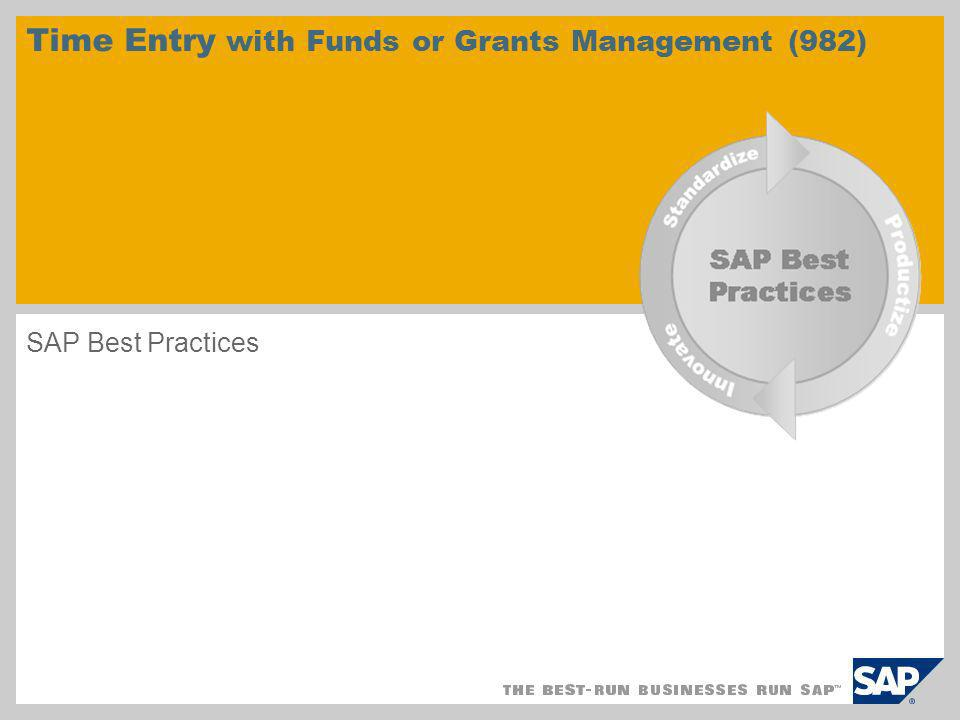 Time Entry with Funds or Grants Management (982)