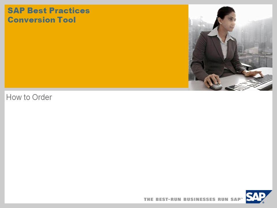 SAP Best Practices Conversion Tool