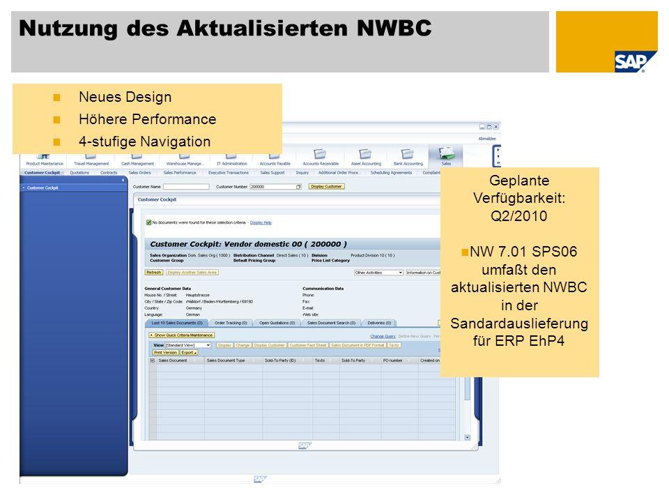 Nutzung des Aktualisierten NWBC