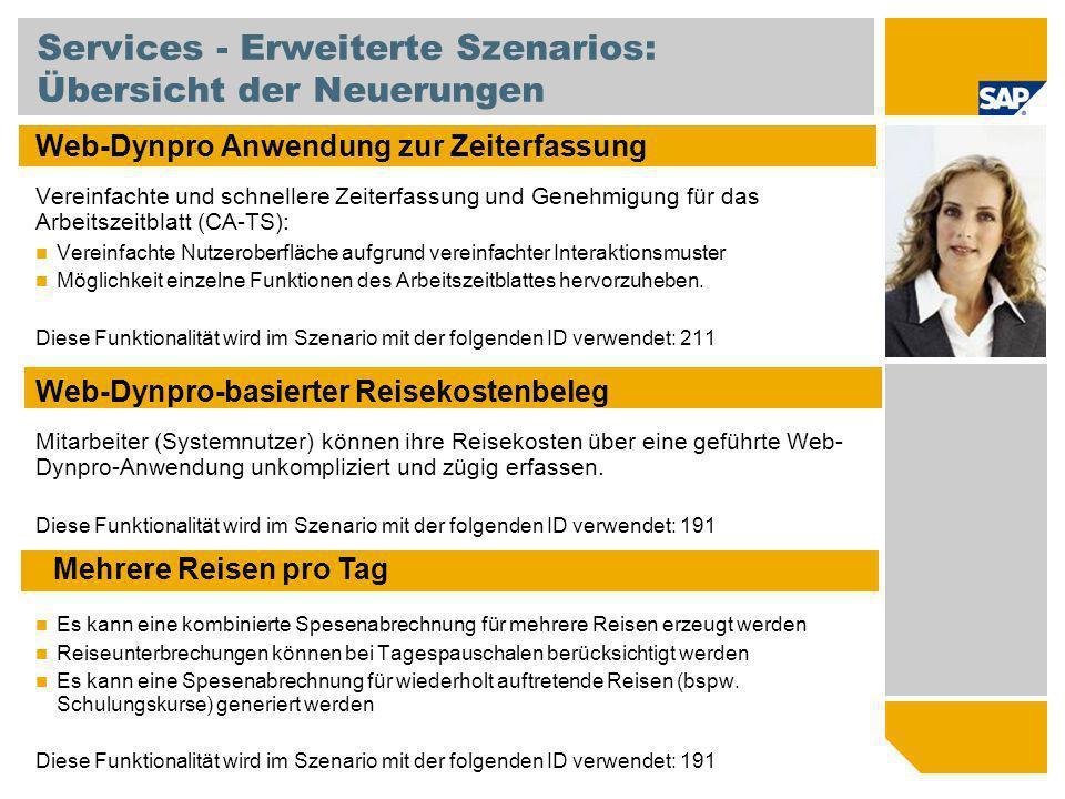 Services - Erweiterte Szenarios: Übersicht der Neuerungen