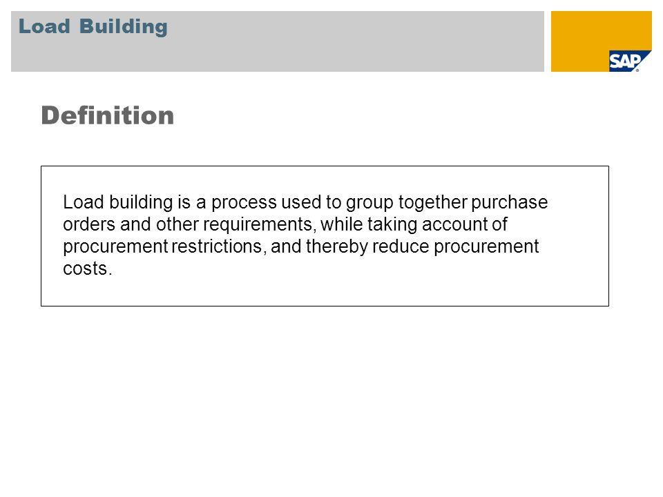 Definition Load Building