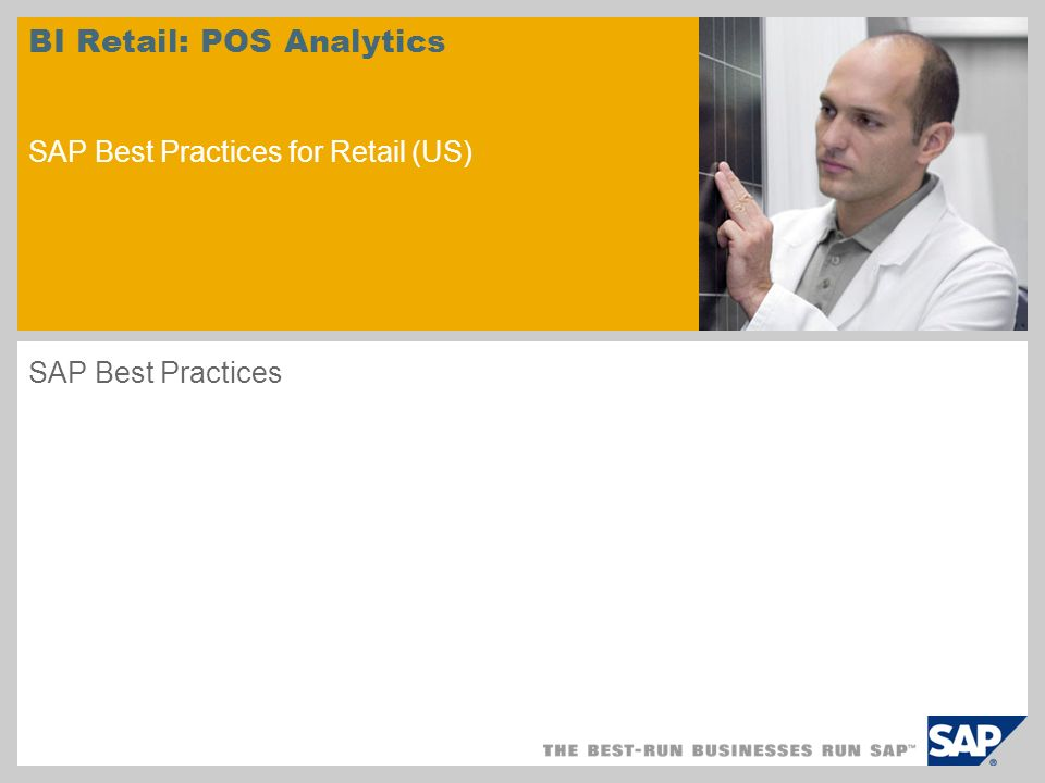 BI Retail: POS Analytics SAP Best Practices for Retail (US)