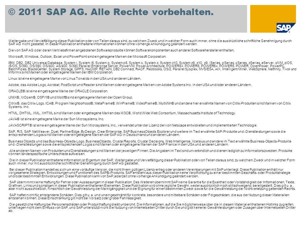 © 2011 SAP AG. Alle Rechte vorbehalten.