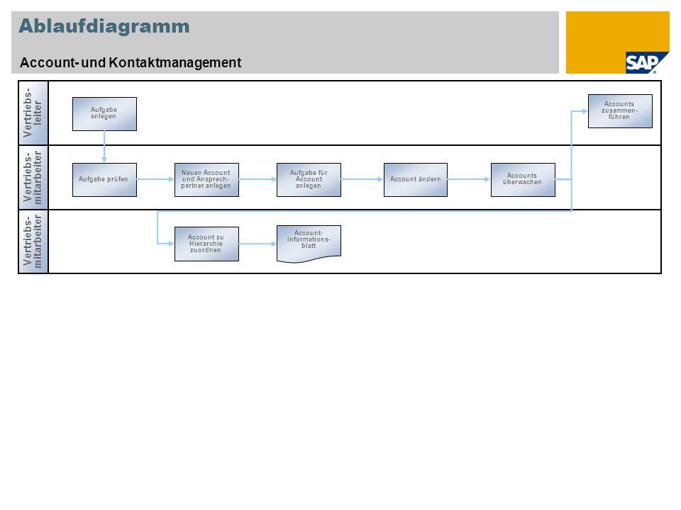 Ablaufdiagramm Account- und Kontaktmanagement Vertriebs-leiter