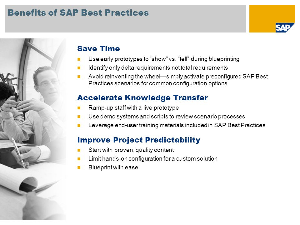 Benefits of SAP Best Practices
