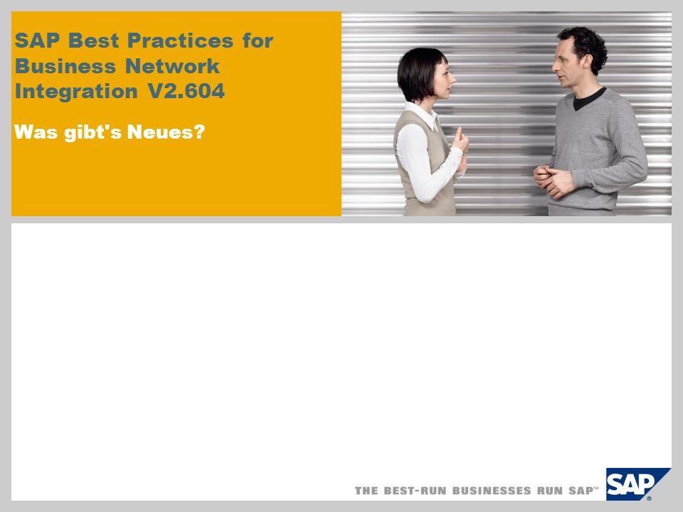 SAP Best Practices for Business Network Integration V2
