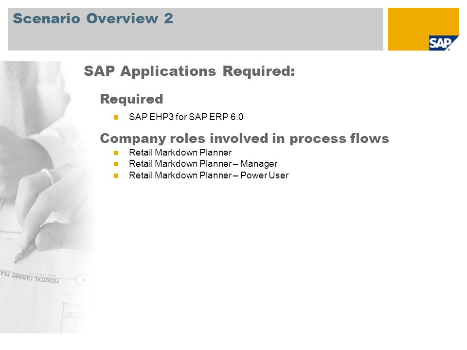 SAP Applications Required: