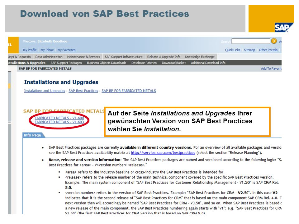 Download von SAP Best Practices