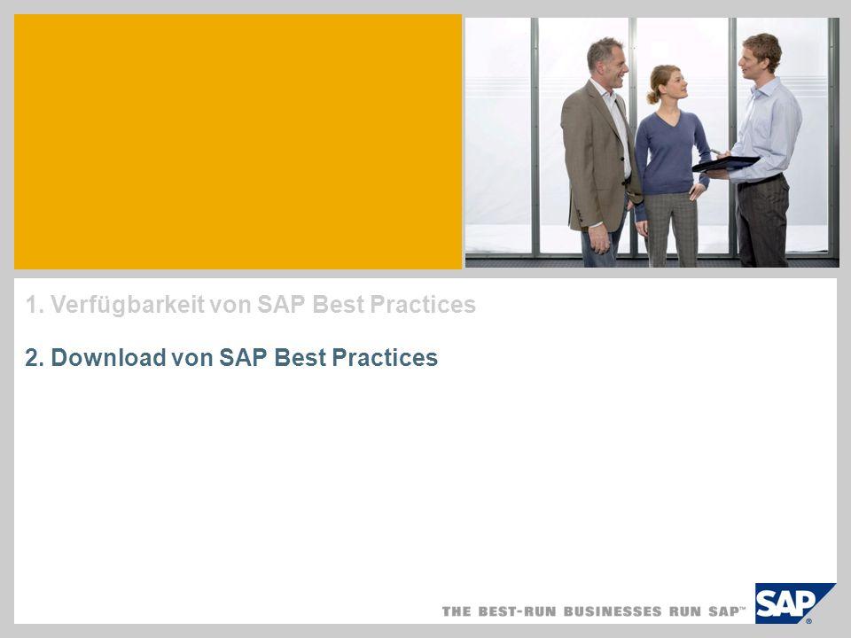 1. Verfügbarkeit von SAP Best Practices