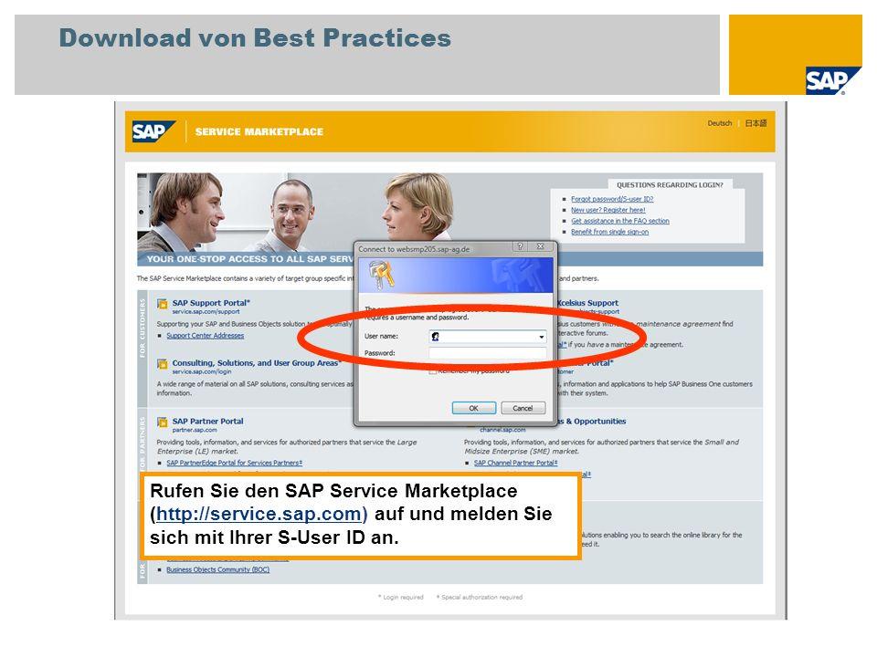 Download von Best Practices