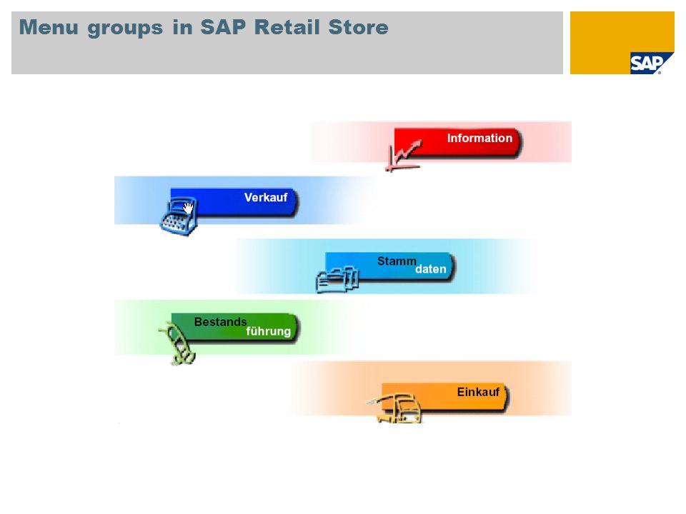 Menu groups in SAP Retail Store