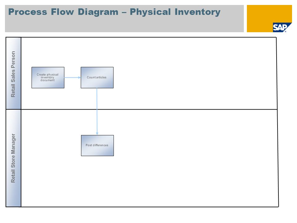 Process Flow Diagram – Physical Inventory