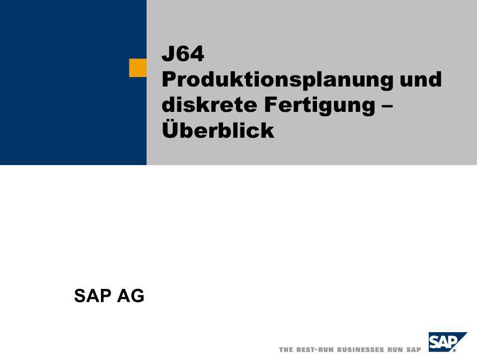 J64 Produktionsplanung und diskrete Fertigung – Überblick
