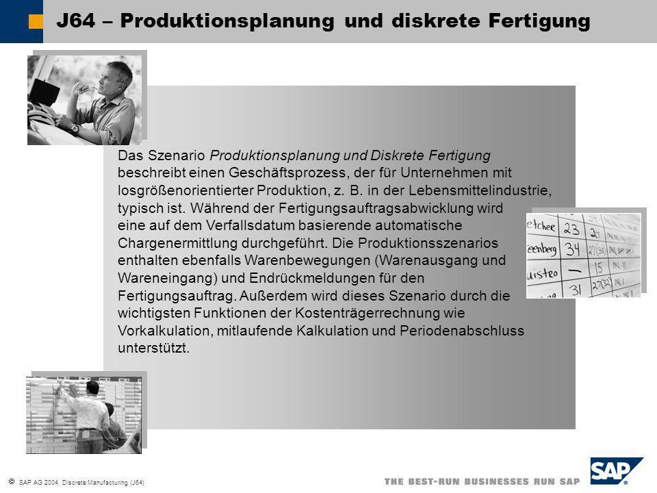 J64 – Produktionsplanung und diskrete Fertigung