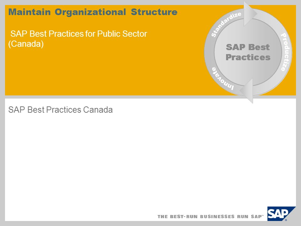 SAP Best Practices Canada