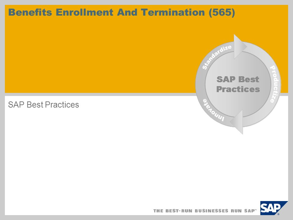 Benefits Enrollment And Termination (565)