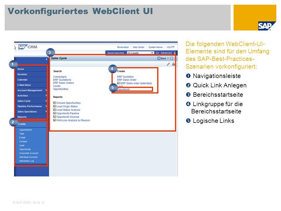 Vorkonfiguriertes WebClient UI