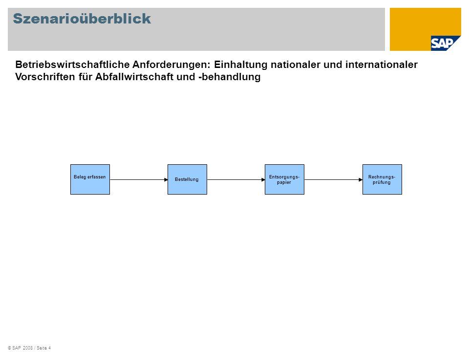 Szenarioüberblick Betriebswirtschaftliche Anforderungen: Einhaltung nationaler und internationaler Vorschriften für Abfallwirtschaft und -behandlung.